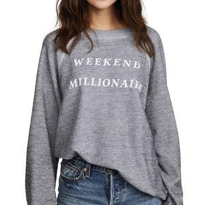 NWT Wildfox Grey 'Weekend Millionaire' Sweatshirt